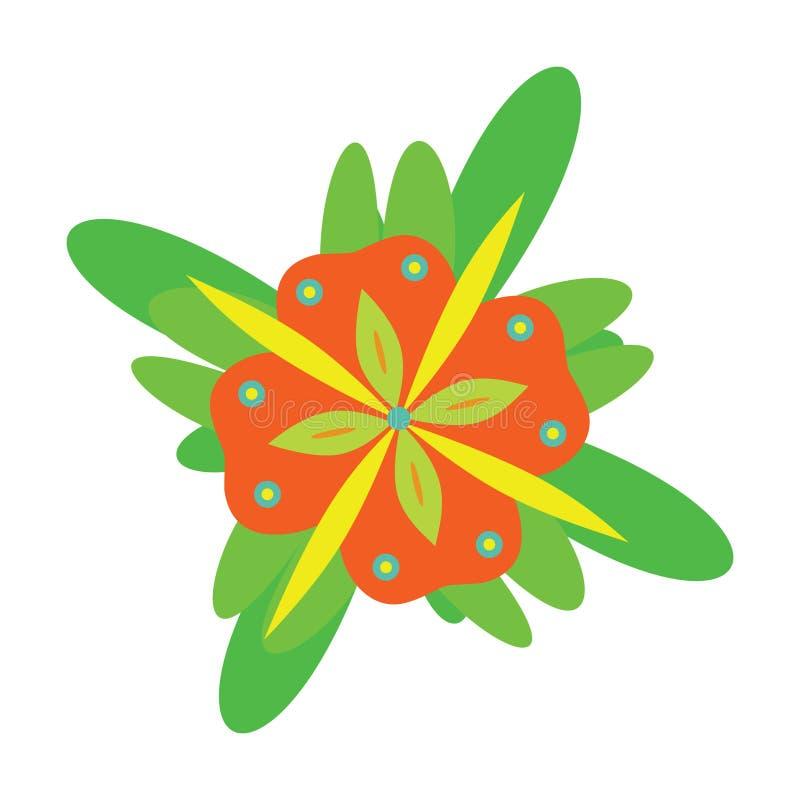 διάνυσμα λουλουδιών φα& ελεύθερη απεικόνιση δικαιώματος