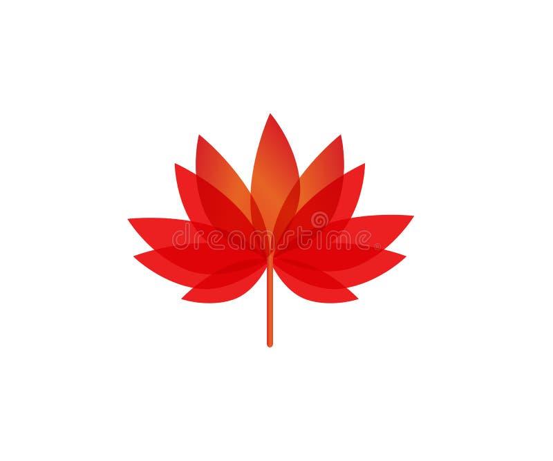 Διάνυσμα λουλουδιών Lotus απεικόνιση αποθεμάτων