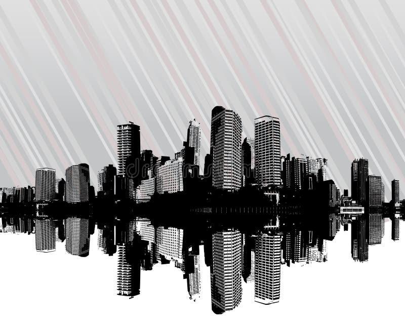 διάνυσμα λωρίδων πόλεων ελεύθερη απεικόνιση δικαιώματος
