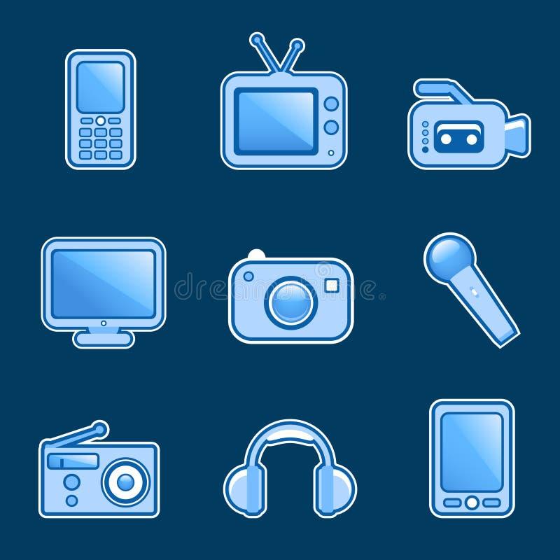 διάνυσμα μέσων εικονιδίων ελεύθερη απεικόνιση δικαιώματος
