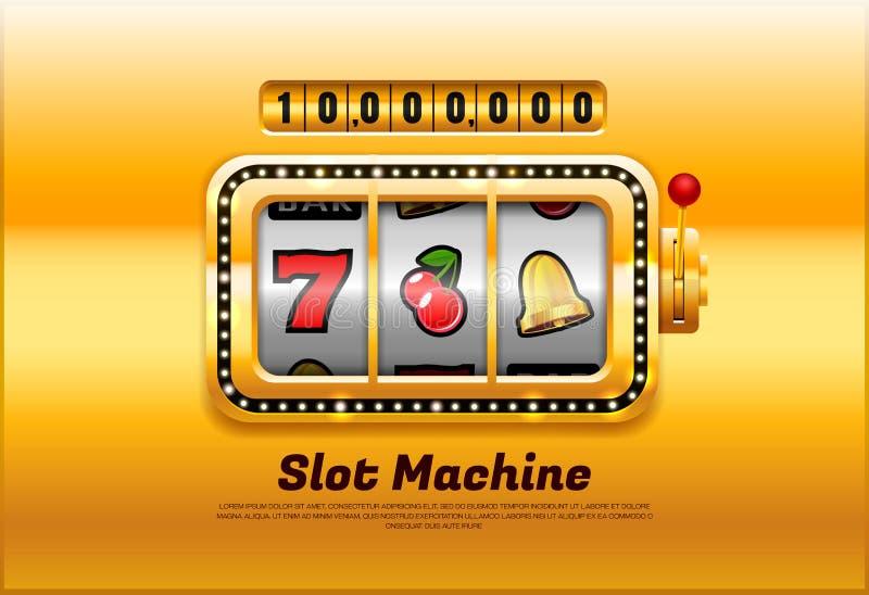 Διάνυσμα μηχανημάτων τυχερών παιχνιδιών με κέρματα ελεύθερη απεικόνιση δικαιώματος
