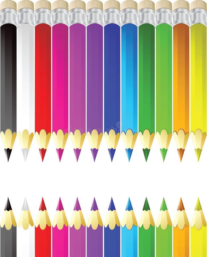 διάνυσμα μολυβιών έγχρωμη&s διανυσματική απεικόνιση