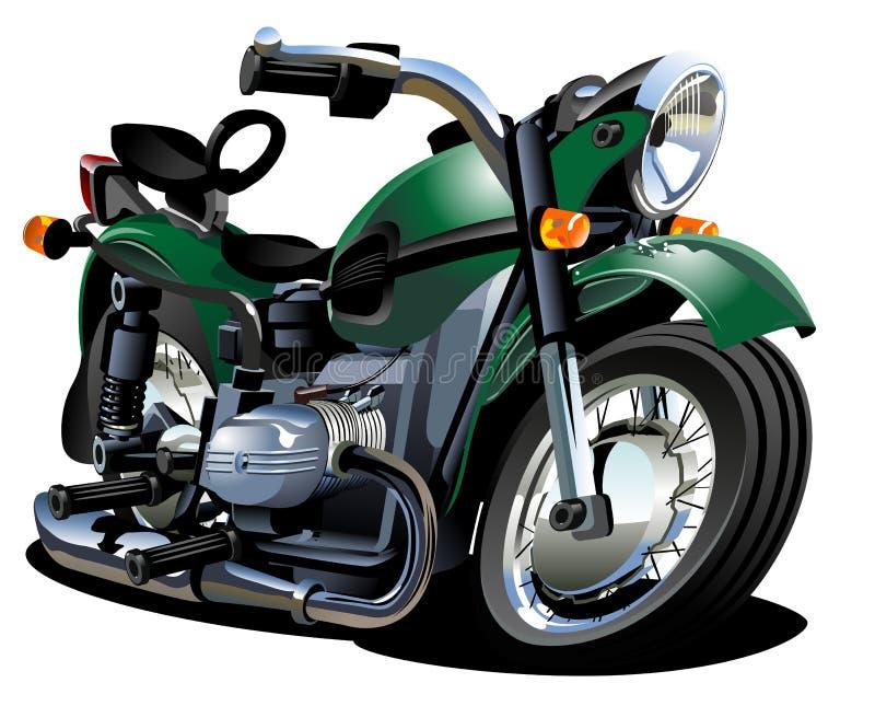 διάνυσμα μοτοσικλετών κινούμενων σχεδίων ελεύθερη απεικόνιση δικαιώματος