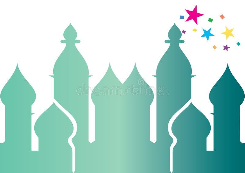 διάνυσμα μουσουλμανικών τεμενών ελεύθερη απεικόνιση δικαιώματος