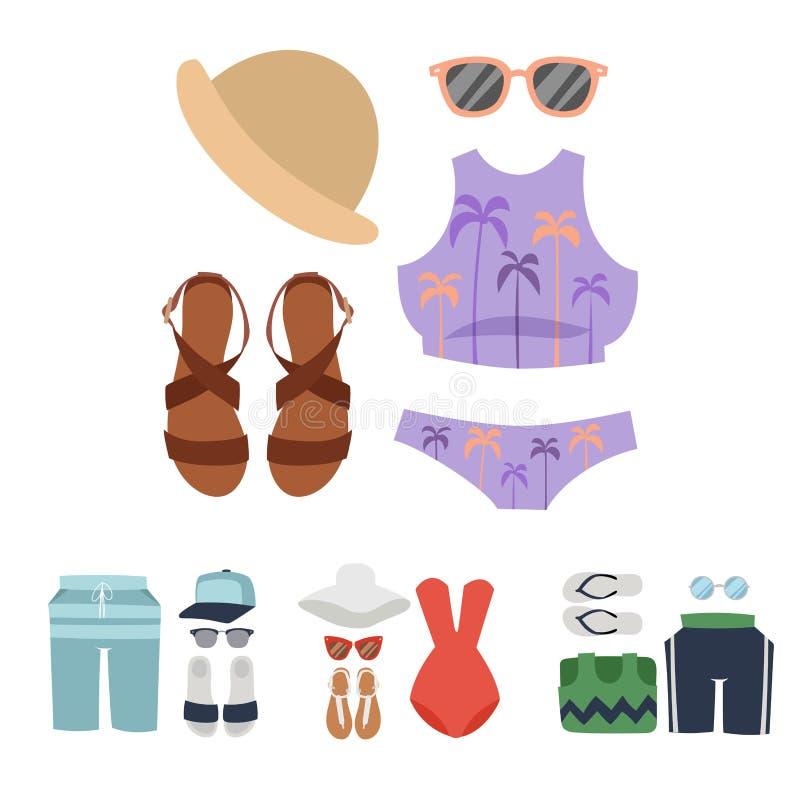 Διάνυσμα μπικινιών Beachwear διανυσματική απεικόνιση