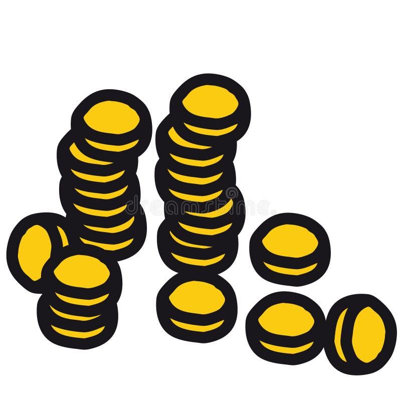 διάνυσμα νομισμάτων απεικόνιση αποθεμάτων