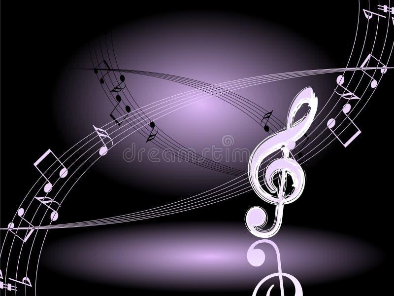 διάνυσμα νύχτας μουσικής διανυσματική απεικόνιση