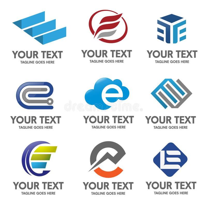 Διάνυσμα λογότυπων γραμμάτων Ε ελεύθερη απεικόνιση δικαιώματος