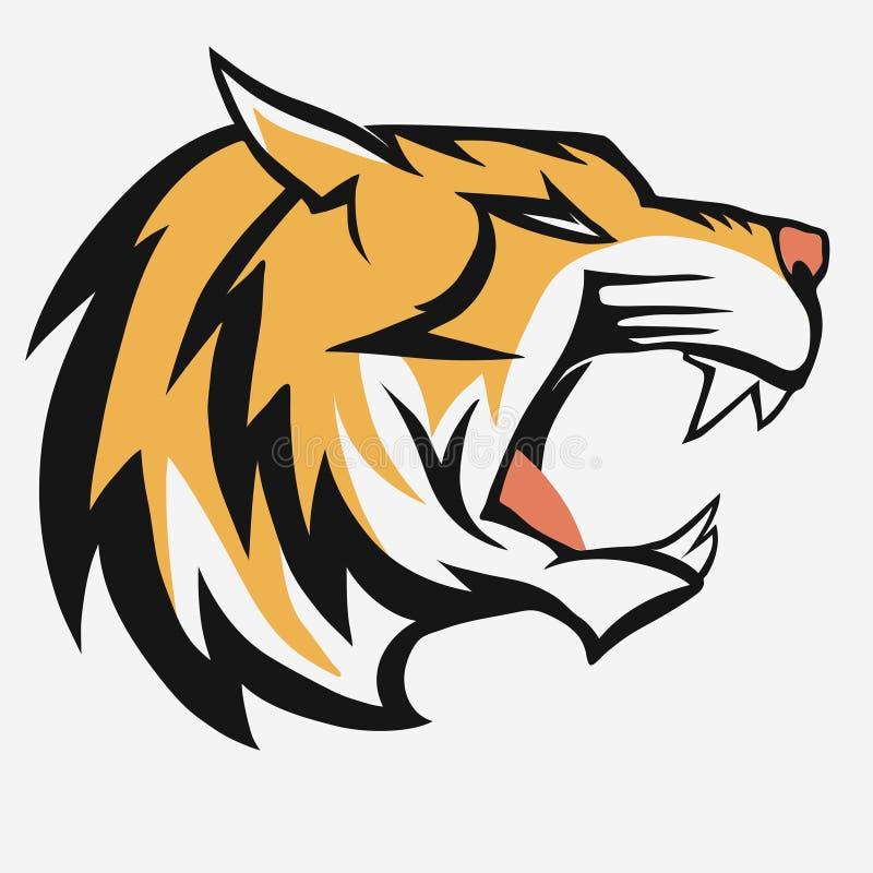 Διάνυσμα λογότυπων τιγρών διανυσματική απεικόνιση