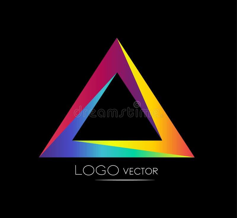Διάνυσμα λογότυπων τριγώνων διανυσματική απεικόνιση
