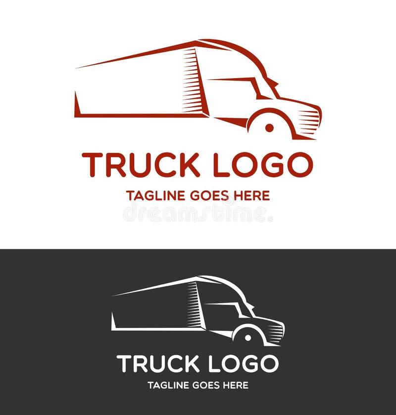 Διάνυσμα λογότυπων φορτηγών ελεύθερη απεικόνιση δικαιώματος