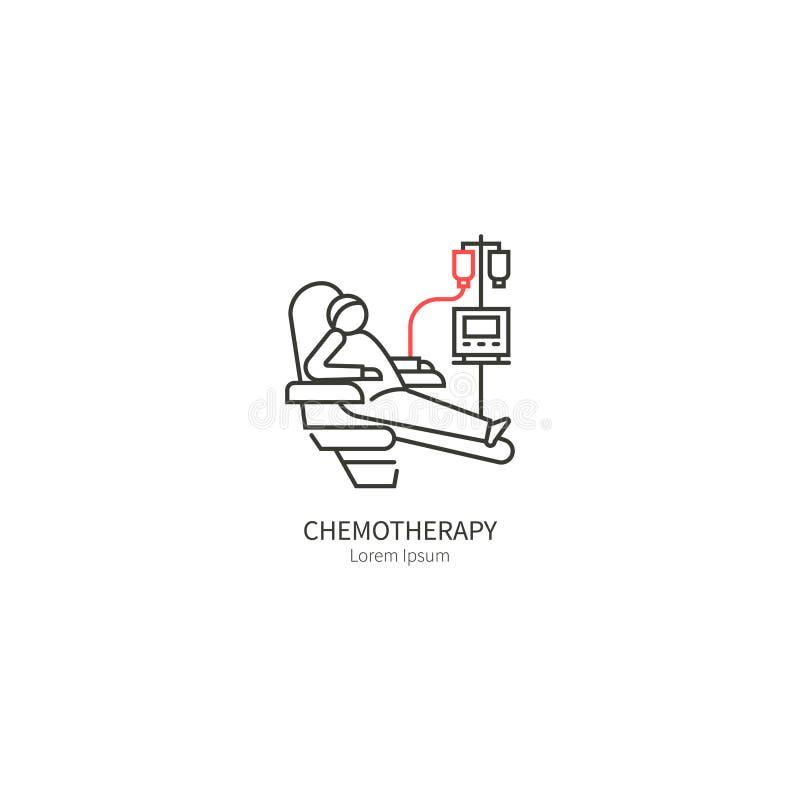 Διάνυσμα λογότυπων χημειοθεραπείας απεικόνιση αποθεμάτων