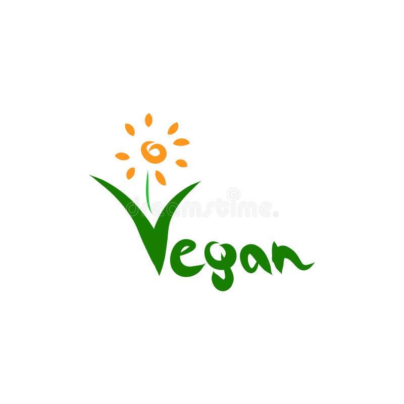 Διάνυσμα λογότυπων Vegan διανυσματική απεικόνιση
