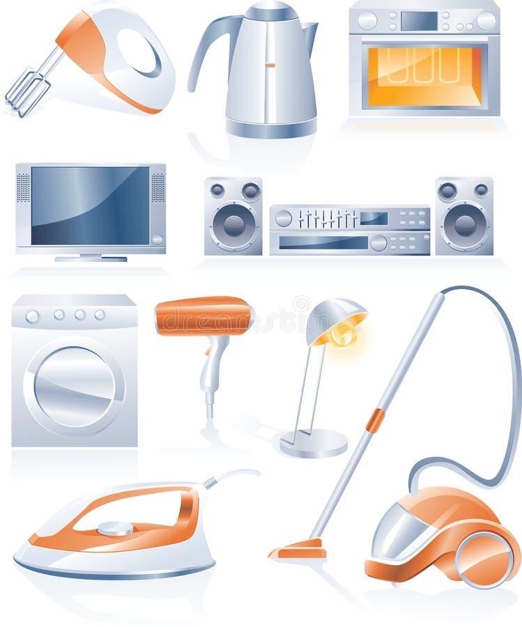 διάνυσμα οικιακών εικονιδίων συσκευών διανυσματική απεικόνιση