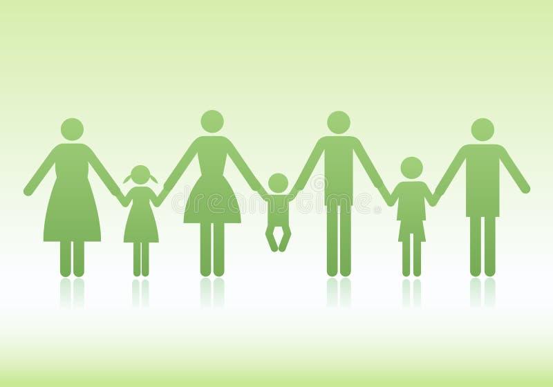 διάνυσμα οικογενειακών εικονιδίων απεικόνιση αποθεμάτων