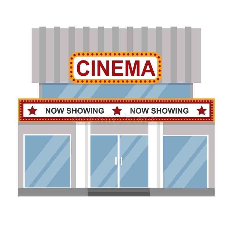 Διάνυσμα οικοδόμησης κινηματογράφων διανυσματική απεικόνιση