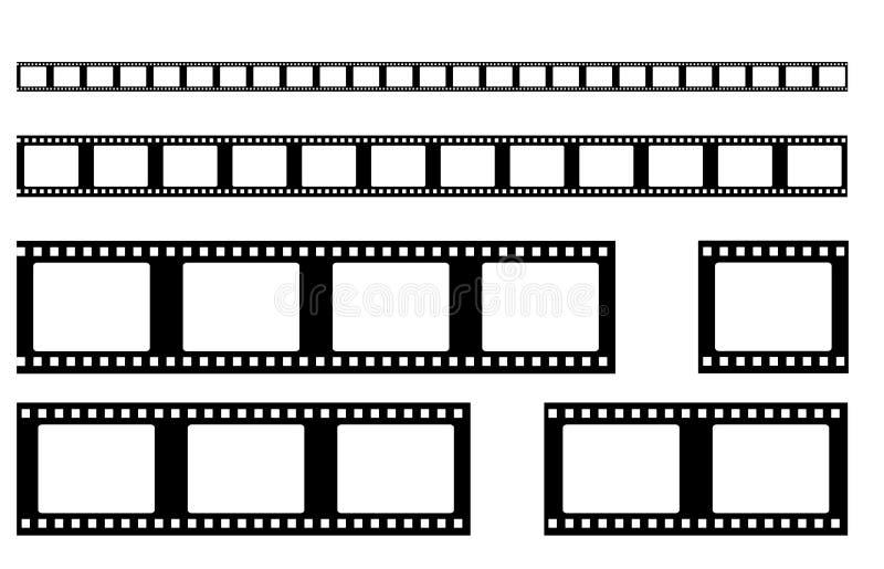 Διάνυσμα λουρίδων ταινιών ρεαλιστικός ελεύθερη απεικόνιση δικαιώματος