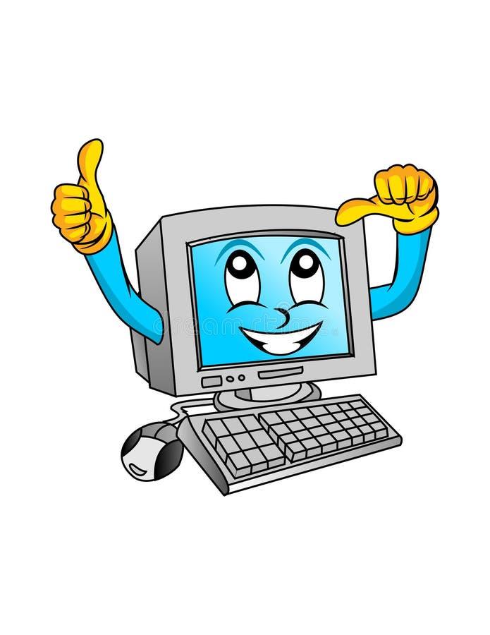 Διάνυσμα - ο αναδρομικός desktop άσπρος υπολογιστής απεικόνιση αποθεμάτων