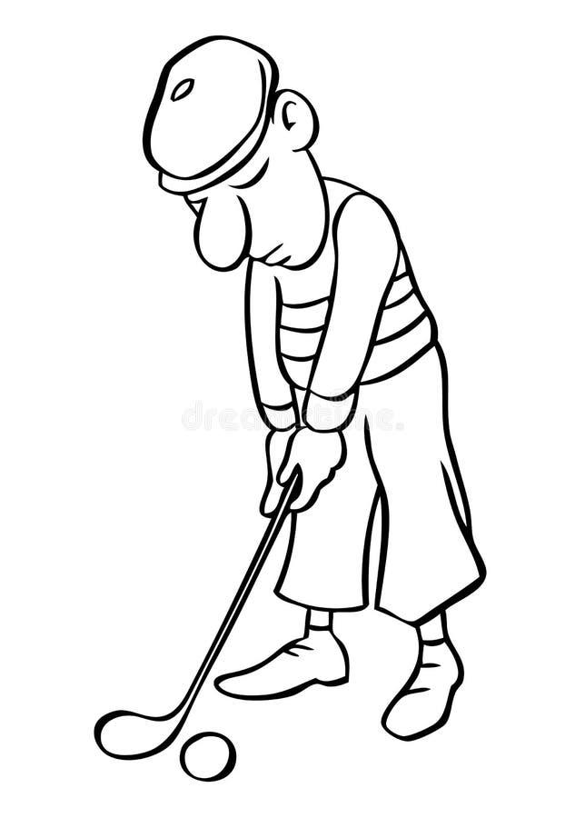 διάνυσμα παικτών γκολφ κ&iota ελεύθερη απεικόνιση δικαιώματος