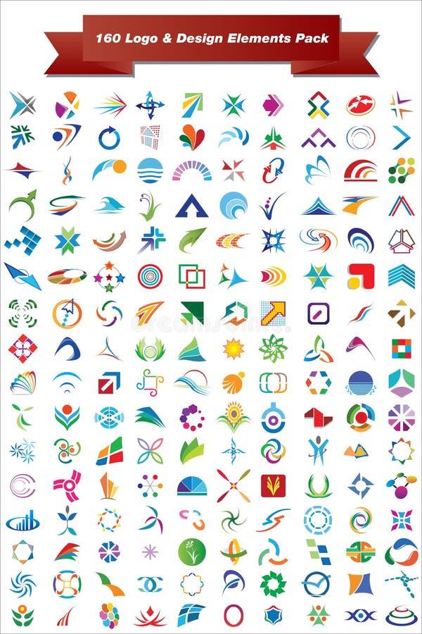 διάνυσμα πακέτων λογότυπων στοιχείων σχεδίου ελεύθερη απεικόνιση δικαιώματος