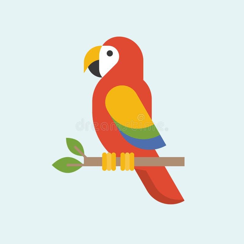 Διάνυσμα παπαγάλων Macaw ελεύθερη απεικόνιση δικαιώματος