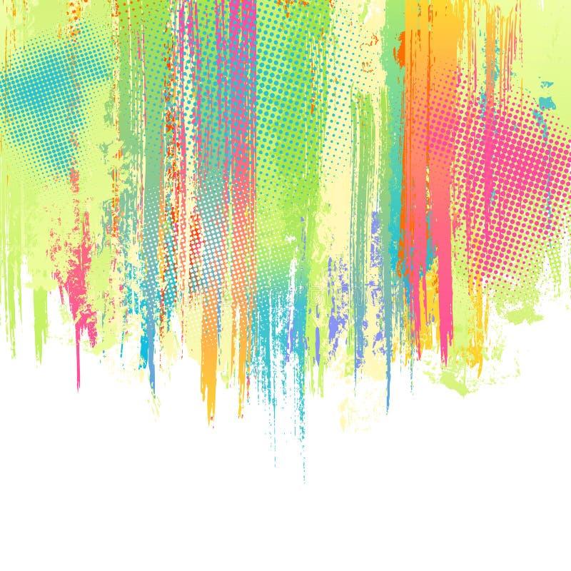 διάνυσμα παφλασμών κρητιδογραφιών χρωμάτων ανασκόπησης ελεύθερη απεικόνιση δικαιώματος