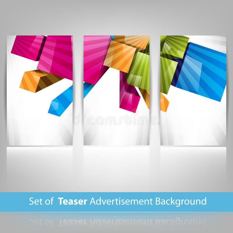 διάνυσμα πειρακτηρίων ανασκόπησης διαφημίσεων απεικόνιση αποθεμάτων