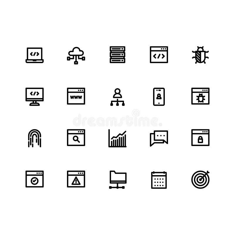 Διάνυσμα περιλήψεων συνόλων εικονιδίων Seo διανυσματική απεικόνιση