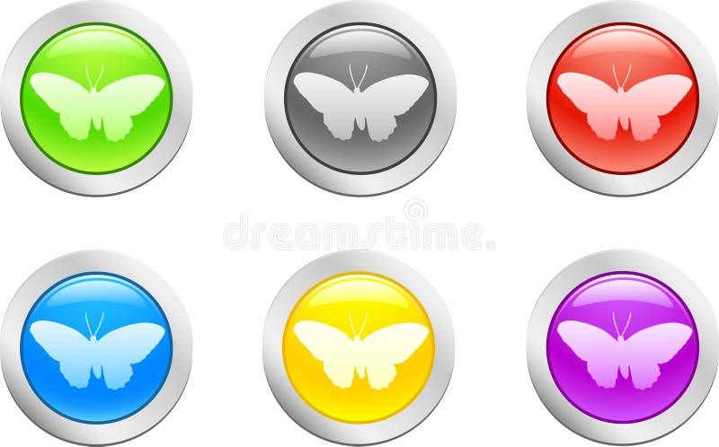 διάνυσμα πεταλούδων ελεύθερη απεικόνιση δικαιώματος