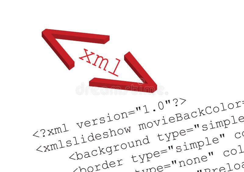 διάνυσμα πηγής κώδικα xml απεικόνιση αποθεμάτων