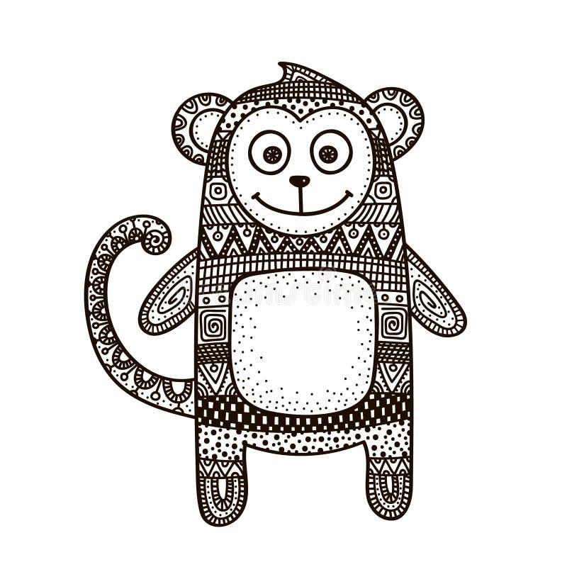 Διάνυσμα πιθήκων doodle ελεύθερη απεικόνιση δικαιώματος