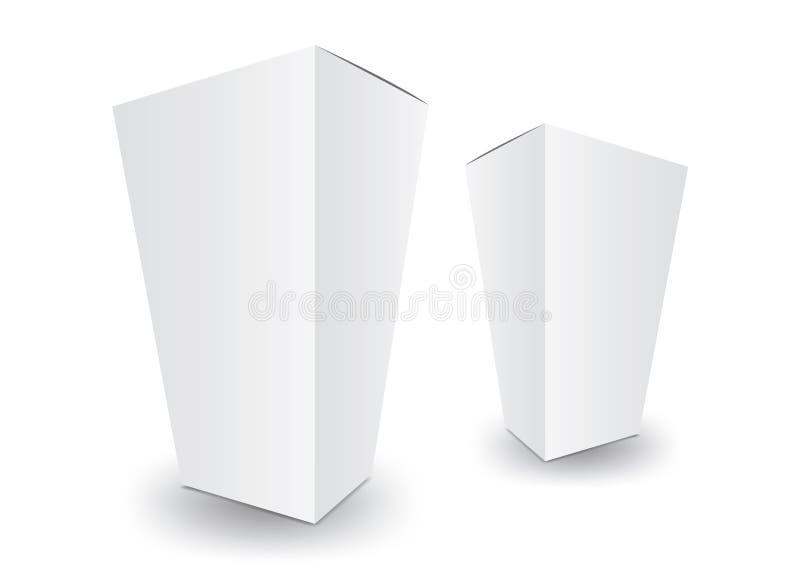 Διάνυσμα πλαισίου λευκού πακέτου, σχεδίαση πακέτου, 3δ πλαίσιο, σχεδίαση προϊόντος απεικόνιση αποθεμάτων