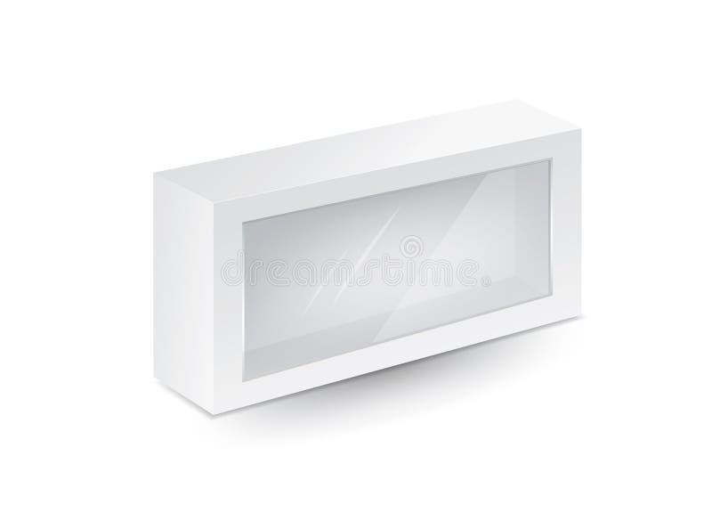 Διάνυσμα πλαισίου λευκού πακέτου, σχεδίαση πακέτου, 3δ πλαίσιο, σχεδίαση προϊόντος διανυσματική απεικόνιση