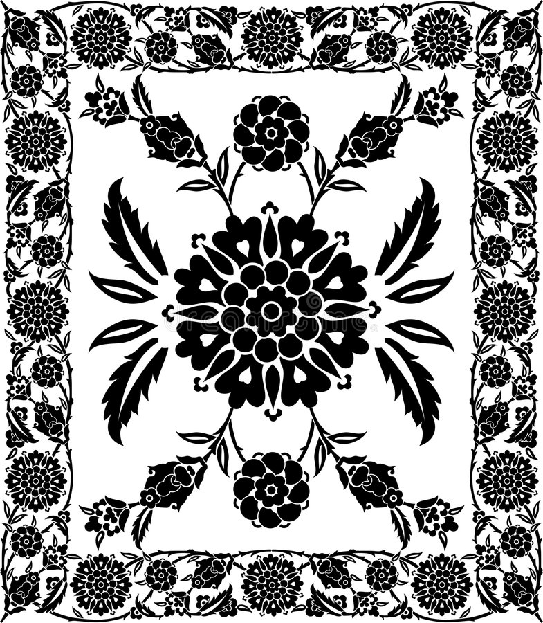 διάνυσμα πλαισίων λουλουδιών απεικόνιση αποθεμάτων