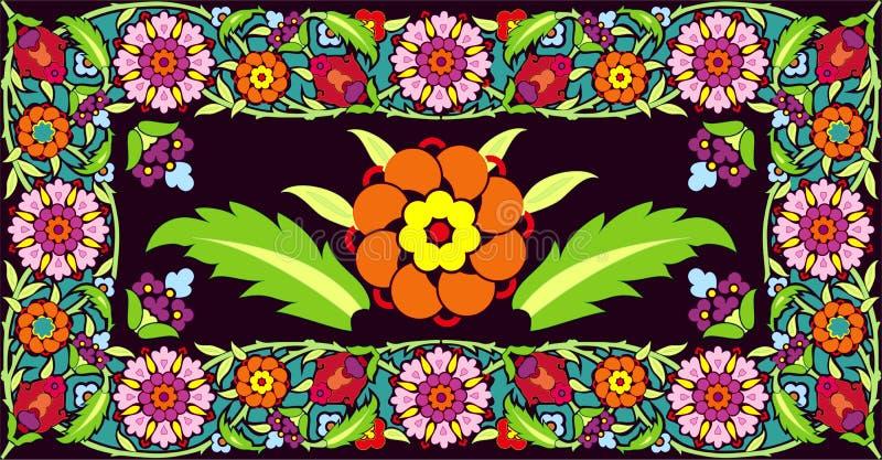 διάνυσμα πλαισίων λουλουδιών διανυσματική απεικόνιση