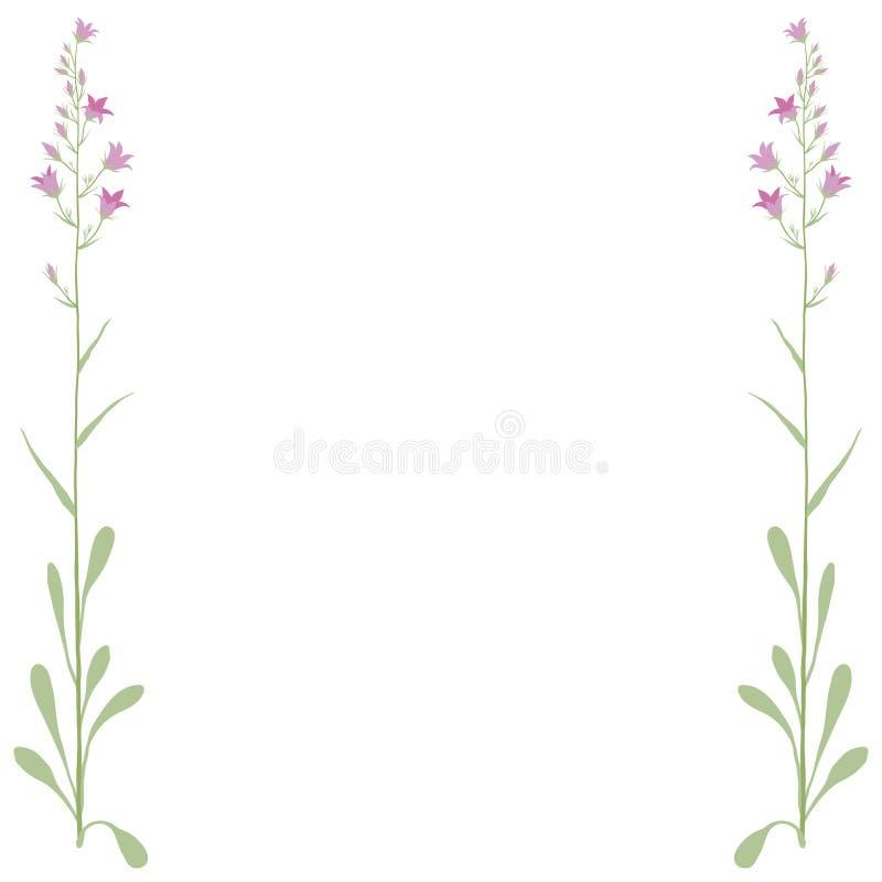 διάνυσμα πλαισίων λουλ&omi διανυσματική απεικόνιση