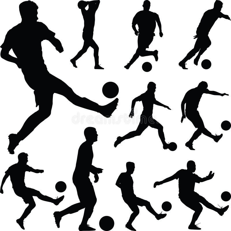 Διάνυσμα ποδοσφαιριστών στοκ εικόνες