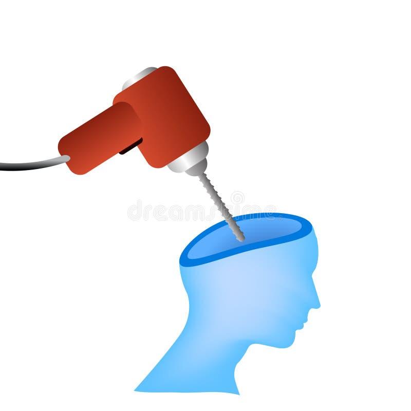 διάνυσμα πονοκέφαλου ένν&o διανυσματική απεικόνιση