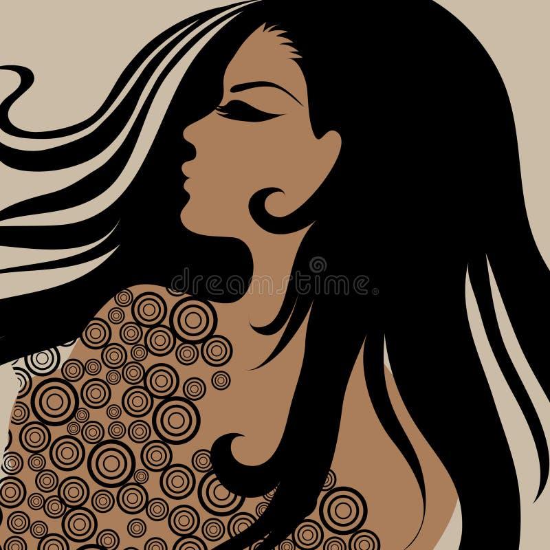 διάνυσμα πορτρέτου κορι&tau απεικόνιση αποθεμάτων