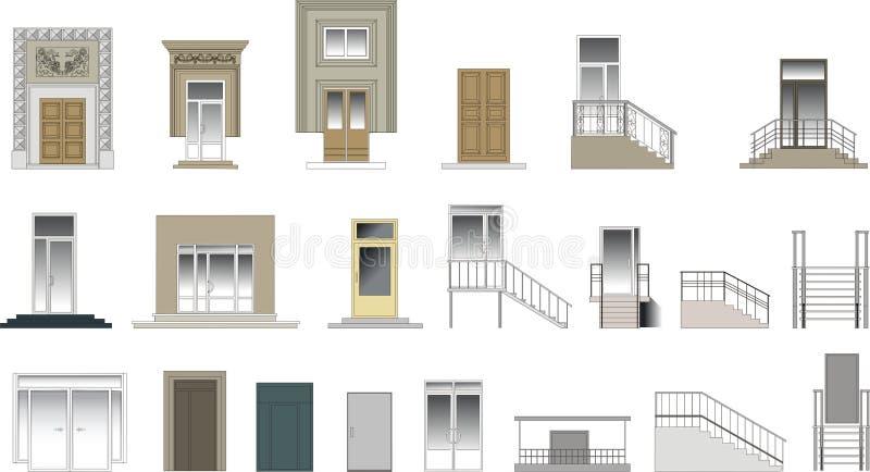 διάνυσμα πορτών συλλογή&sigma απεικόνιση αποθεμάτων