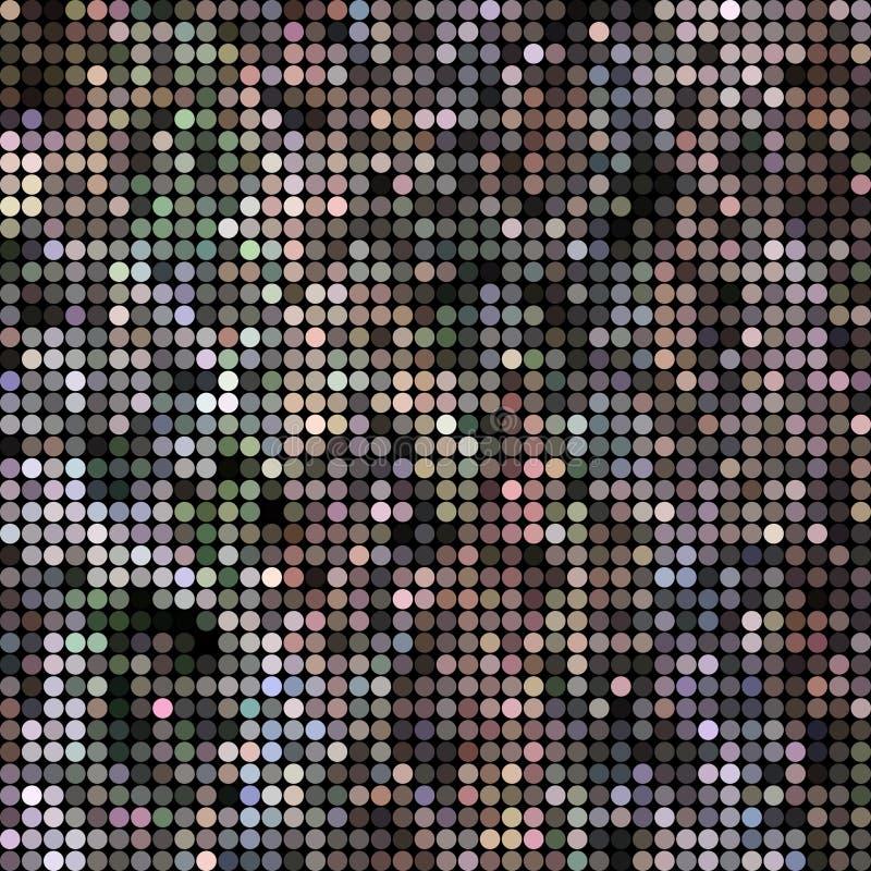Διάνυσμα που χρωματίζεται αφηρημένο γύρω από το υπόβαθρο σημείων διανυσματική απεικόνιση