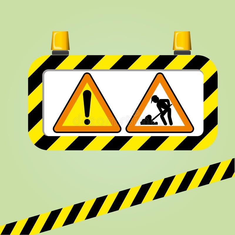 Διάνυσμα προειδοποιητικών σημαδιών ελεύθερη απεικόνιση δικαιώματος
