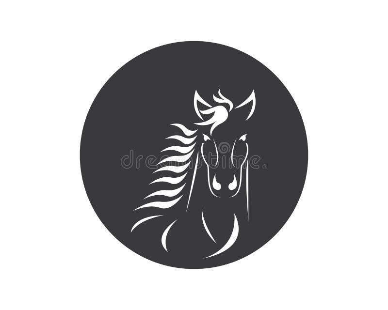 Διάνυσμα προτύπων λογότυπων αλόγων διανυσματική απεικόνιση