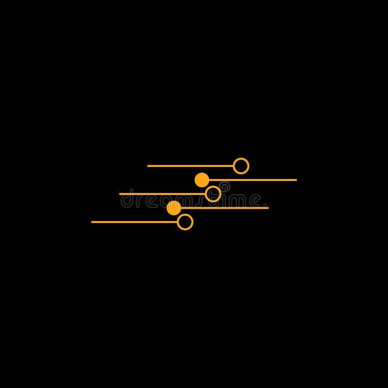Διάνυσμα προτύπων λογότυπων κυκλωμάτων ελεύθερη απεικόνιση δικαιώματος