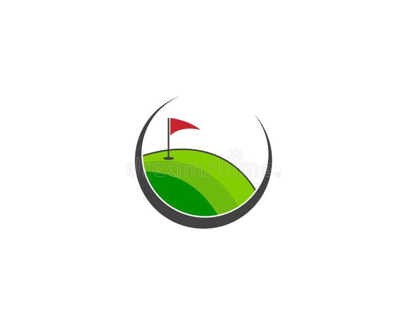Διάνυσμα προτύπων λογότυπων τομέων γκολφ διανυσματική απεικόνιση