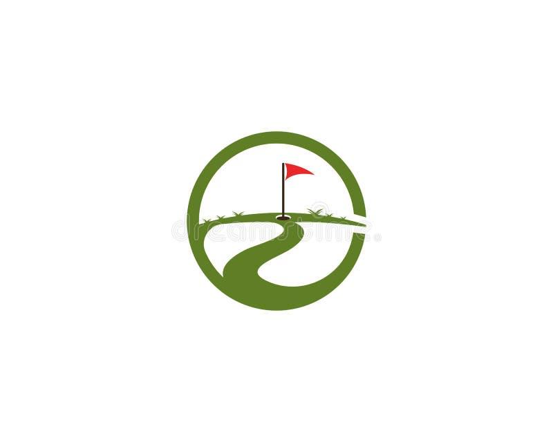 Διάνυσμα προτύπων λογότυπων τομέων γκολφ ελεύθερη απεικόνιση δικαιώματος