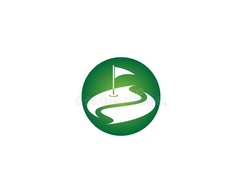 Διάνυσμα προτύπων λογότυπων τομέων γκολφ απεικόνιση αποθεμάτων