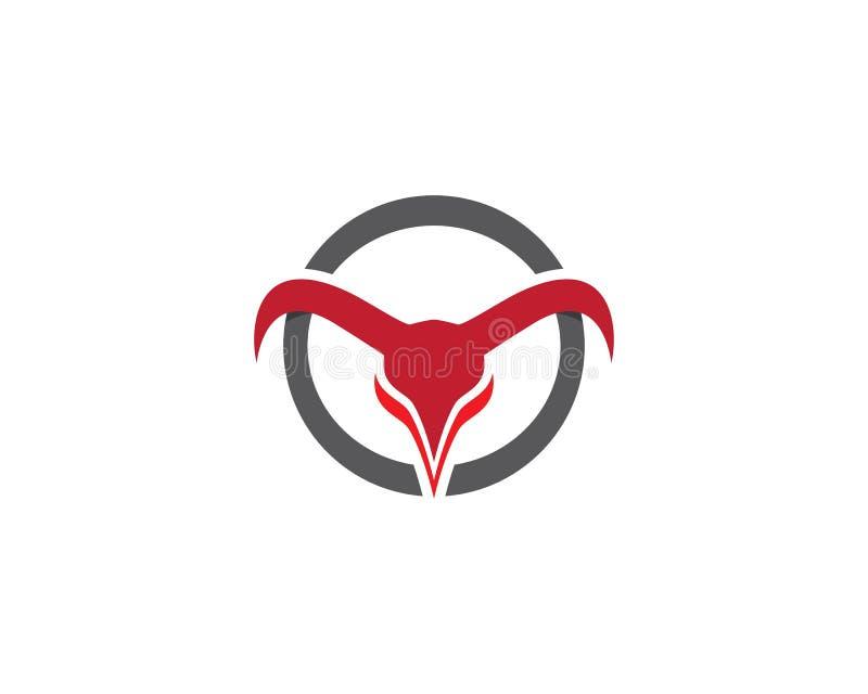Διάνυσμα προτύπων λογότυπων του Bull διανυσματική απεικόνιση