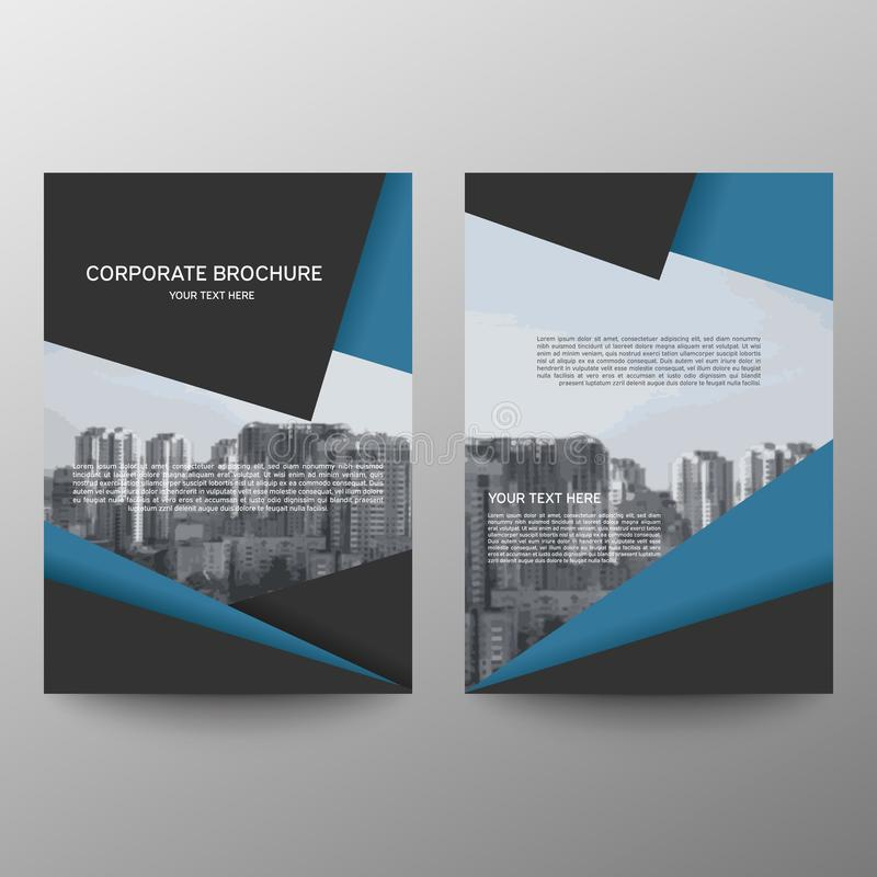 Διάνυσμα προτύπων σχεδίου ιπτάμενων φυλλάδιων ετήσια εκθέσεων, αφηρημένο επίπεδο υπόβαθρο παρουσίασης κάλυψης φυλλάδιων, σχεδιάγρ ελεύθερη απεικόνιση δικαιώματος