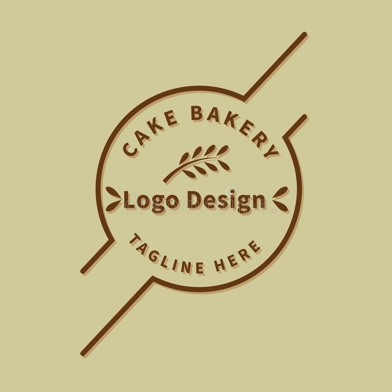 Διάνυσμα προτύπων σχεδίου λογότυπων αρτοποιείων εννοιολογικό διανυσματική απεικόνιση
